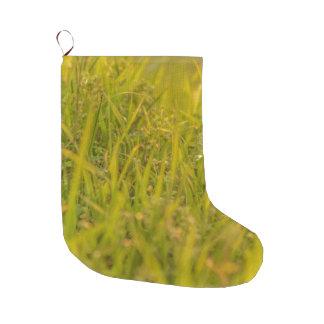 Grande Chaussette De Noël Photo de détail d'herbe