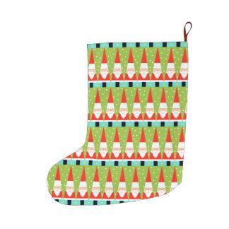 Grande Chaussette De Noël Rétro bas géométrique de Noël de Père Noël