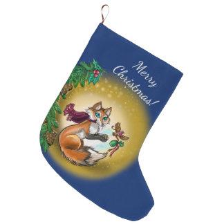 Grande Chaussette De Noël Vacances de Fox de Gifting