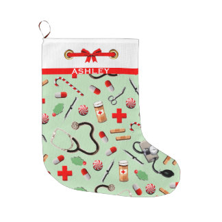 Grande Chaussette De Noël Vacances de soins de santé