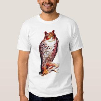 Grande chemise de hibou à cornes t-shirt
