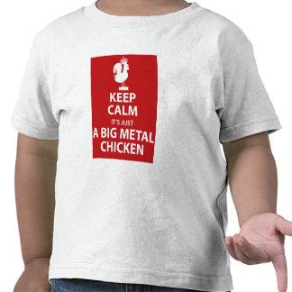 Grande chemise de poulet en métal t-shirts