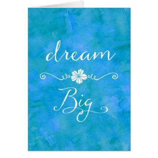 Grande citation inspirée rêveuse de bonheur cartes