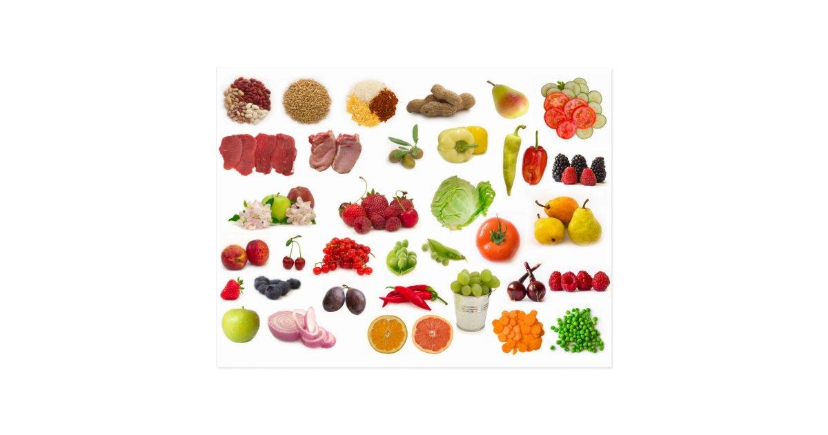 Grande collection de fruits et l gumes cartes postales zazzle - Fruits et legumes de a a z ...