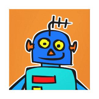 Grande copie bleue de toile de robot