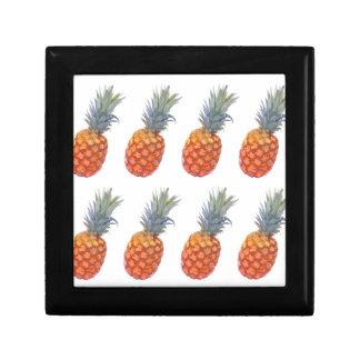 Grande copie d'ananas petite boîte à bijoux carrée