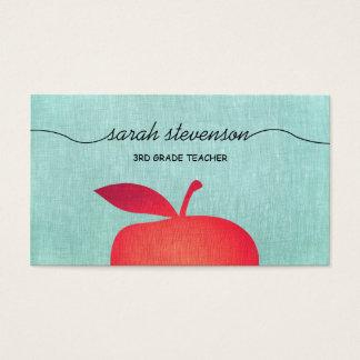 Grande formation de maître d'école rouge d'Apple Cartes De Visite