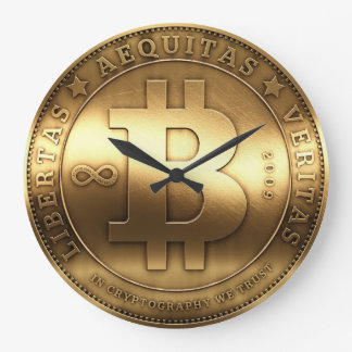 Grande horloge murale de Bitcoin de symbole