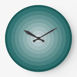 Grande horloge murale de cible turquoise par Janz