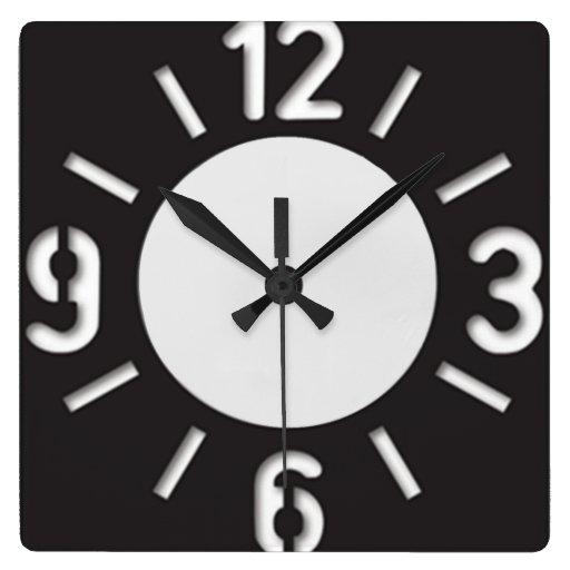 grande horloge murale de pochoir de nombres zazzle. Black Bedroom Furniture Sets. Home Design Ideas