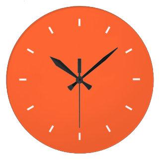 Grande horloge murale orange (ronde)
