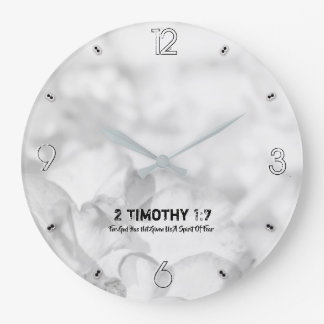 Grande Horloge Ronde 2 Timothy 1-7 pour Dieu 93