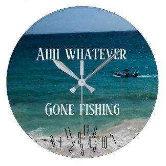 Grande Horloge Ronde Ahh quoi que - pêche allée -