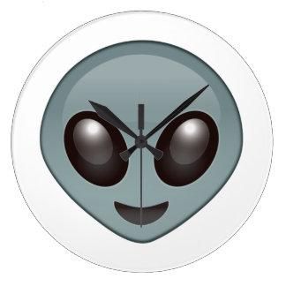 Grande Horloge Ronde Alien - Emoji