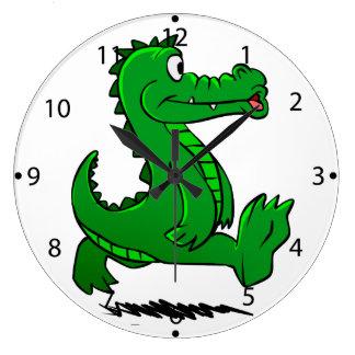 Grande Horloge Ronde Alligator courant