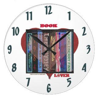 Grande Horloge Ronde Amoureux des livres