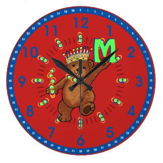 Grande Horloge Ronde Amusement dansant la coutume royale d'ours
