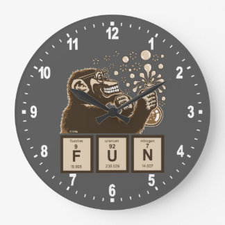 Grande Horloge Ronde Amusement découvert par singe de chimie
