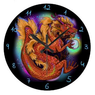 Grande Horloge Ronde Année chinoise du dragon