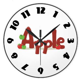 Grande Horloge Ronde Apple expriment l'horloge
