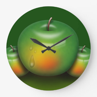 Grande Horloge Ronde Apple par jour