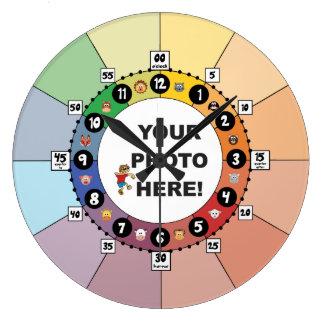 Grande Horloge Ronde Apprenant l'horloge pour des enfants (grands)