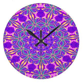 Grande Horloge Ronde Arrière - plan pourpre abstrait
