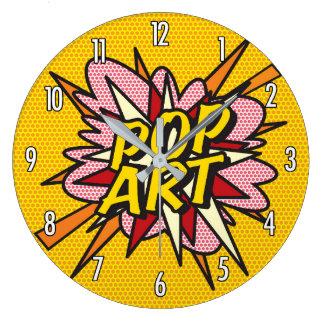 Grande Horloge Ronde Art de bruit de bande dessinée