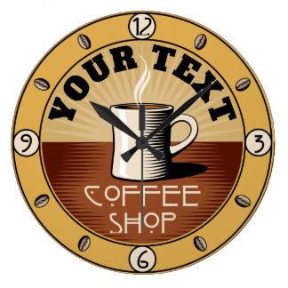 Grande Horloge Ronde Arts vintages et café-restaurant de style de