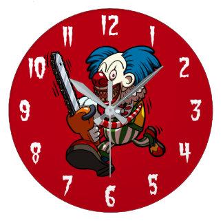 Grande Horloge Ronde Bande dessinée colorée d'horreur de Halloween de