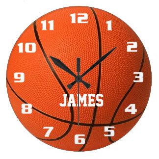 Grande Horloge Ronde Basket-ball de monogramme