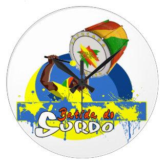 Grande Horloge Ronde BBaC Shirt Surdo Special K Samba Batucada Brasil
