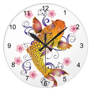 Grande Horloge Ronde Beau Koi
