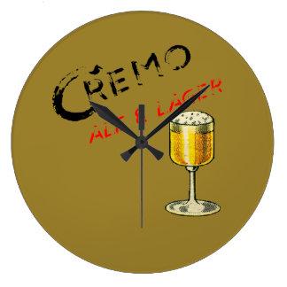 Grande Horloge Ronde Bière de bière anglais de Cremo et blonde