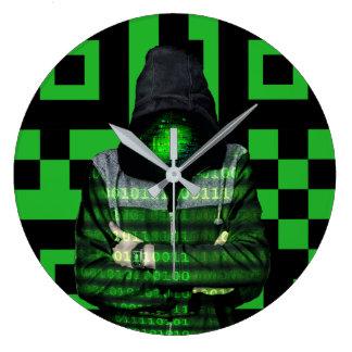 Grande Horloge Ronde Binaire de QR
