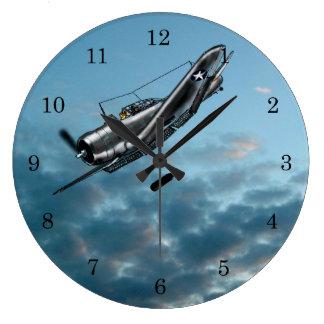 Grande Horloge Ronde Bombardier de piqué courageux de Douglas