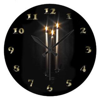 Grande Horloge Ronde Bougie sainte de trinité de nuit de nuit