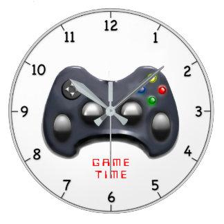 Grande Horloge Ronde cadeau visuel de gamer