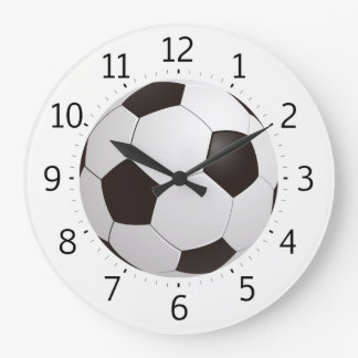 Grande Horloge Ronde Cadeaux frais chics du ballon de football |