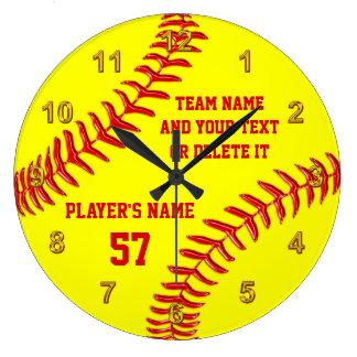 Grande Horloge Ronde Cadeaux supérieurs de nuit du base-ball parfait