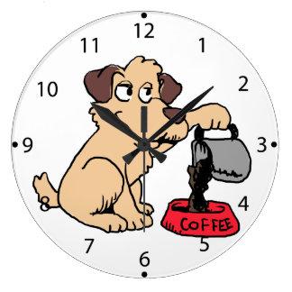 Grande Horloge Ronde Café de portion de chien