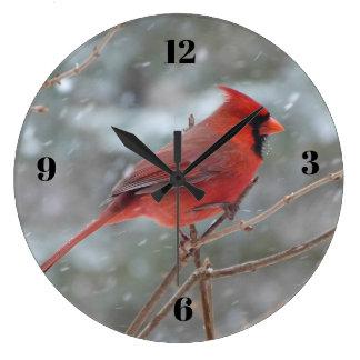 Grande Horloge Ronde Cardinal rouge