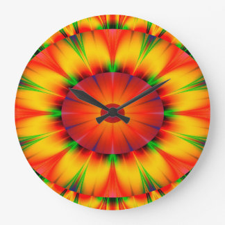 Grande Horloge Ronde Cercles concentriques lumineux de conception