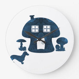 Grande Horloge Ronde Chambre de champignon