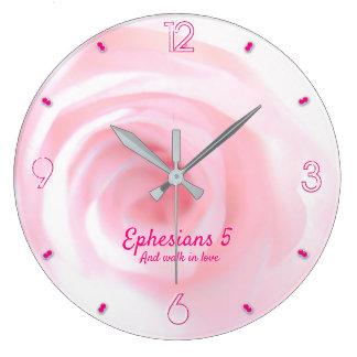 Grande Horloge Ronde Chapitre 5 d'Ephesians et promenade dans l'amour