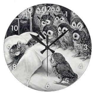 Grande Horloge Ronde Chats cauchemar, Louis Wain