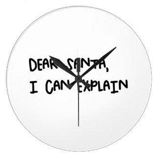 Grande Horloge Ronde Cher Père Noël que je peux expliquer