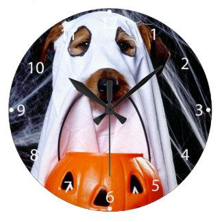Grande Horloge Ronde Chien de fantôme - chien drôle - poursuivez