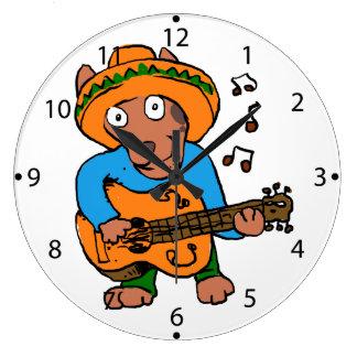 Grande Horloge Ronde Chien mexicain