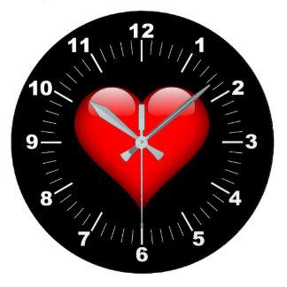 Grande Horloge Ronde Coeur